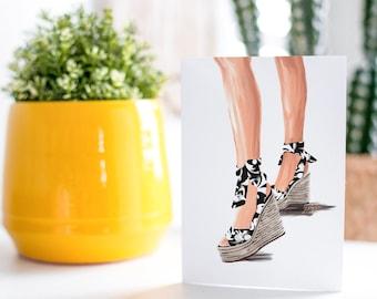 Summer Sandal B.W-Fair Skin Tone Fashion Card
