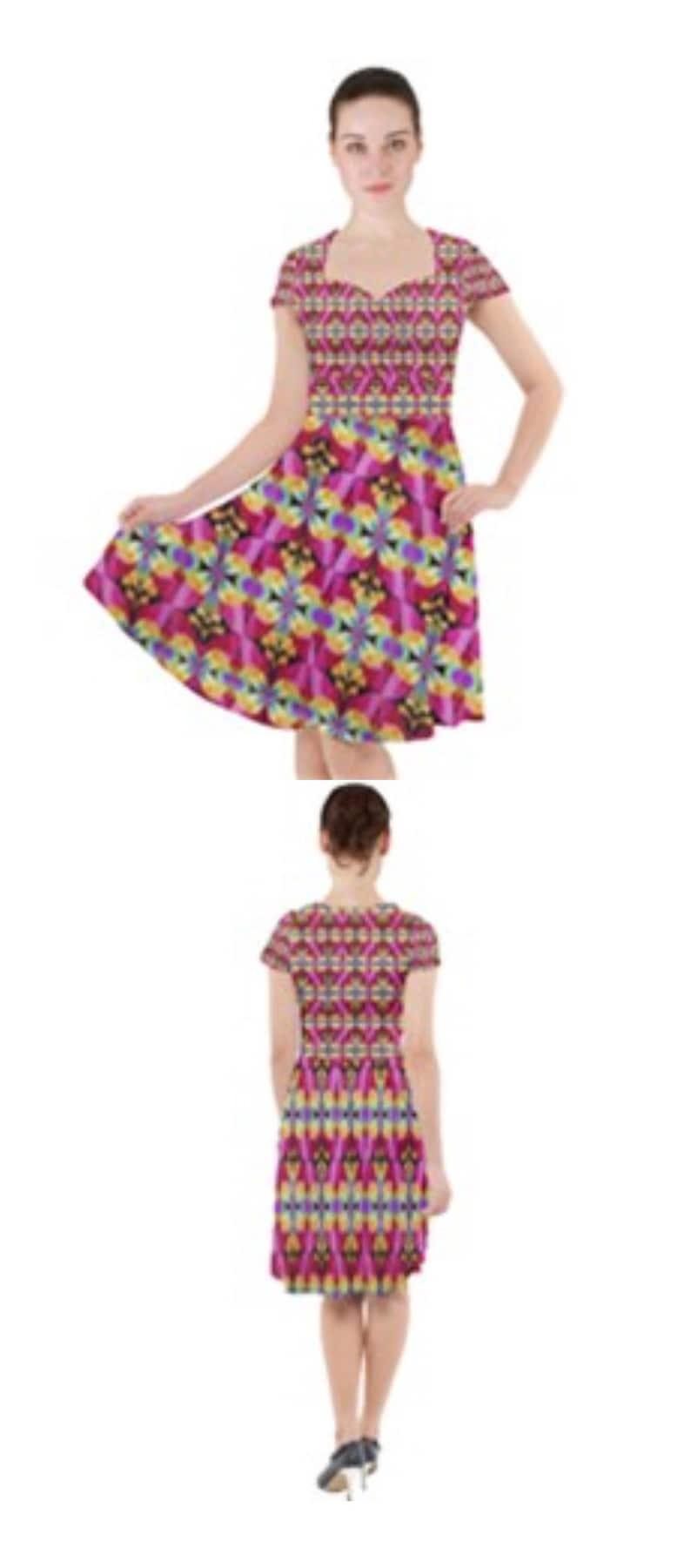 Cap Sleeve Midi Dress image 0