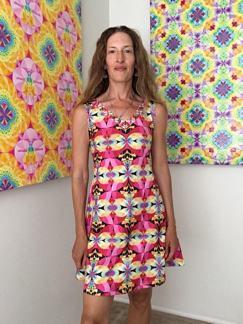 Flying Rainbow Lasange v-neck dress image 0