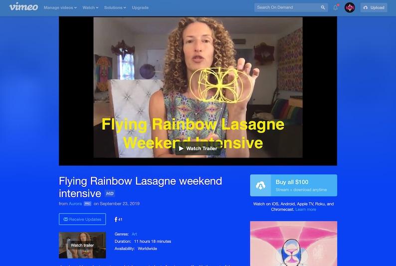 Flying Rainbow Lasagne Weekend Intensive video series image 0