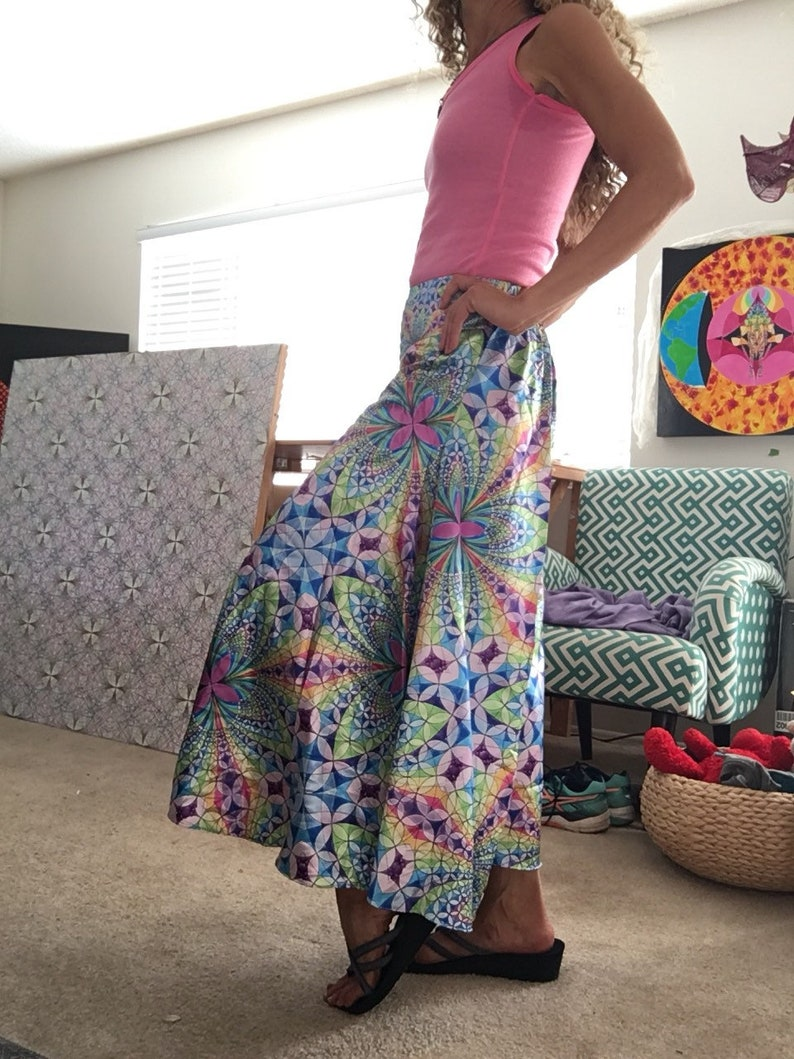Wide leg flowing pants image 0