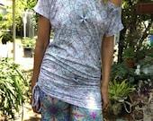 modern asymmetrical drapy cotton top