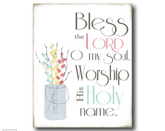 Bless the Lord O my soul | Christian Art Print