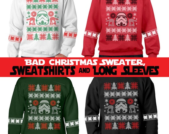 "Faux Bad Christmas Sweaters ""Darkside"" - Sweatshirts and Long Sleeve T-shirts"