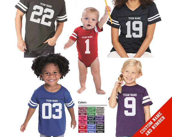 CUSTOM Vintage Football Jersey with custom Team Name and Number