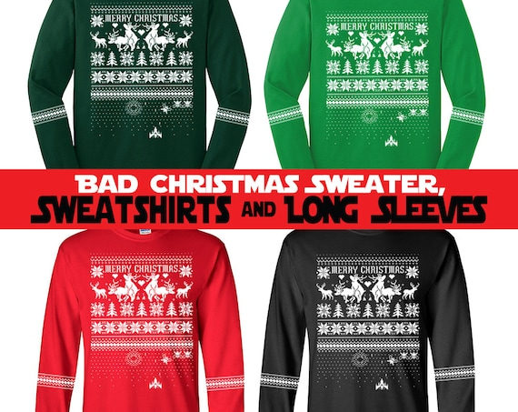 "Mature* Faux Bad Christmas Sweaters ""Naughty Reindeer"" - Sweatshirts and Long Sleeve T-shirts"