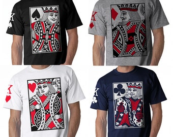 4 Kings Of Poker Cards. Spades, Clubs, Hearts, and Diamonds