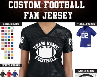 CUSTOM Team Name, Back Number, and  Numberd Sleeves Replica Stadium Football Jerseys