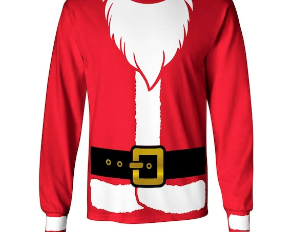Christmas Santa Claus Costume Sweatshirt or Long Sleeve T-shirt
