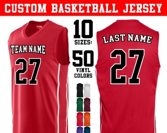 CUSTOM 2-Color Basketball Jerseys In Adult and Youth Sizes (10 Colors)