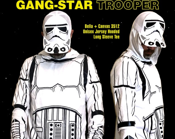Halloween Costume - Gang-Star Trooper Hoodie and Hat with Black Vinyl