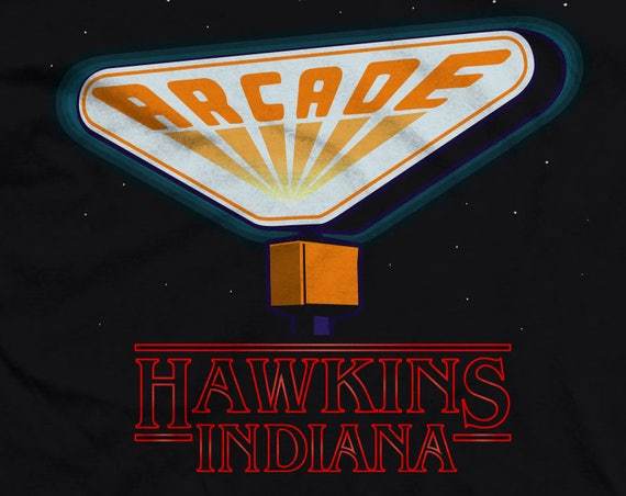 Fan Art Arcade Sign - Hawkins Indiana. Arcade Sign from Stranger Things 2