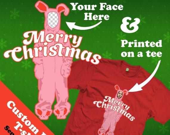 Custom Ralphie Pink Bunny Costume - A Christmas Story T-shirt