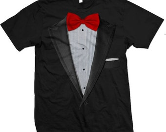 d926672ac Realistic Tuxedo T-shirt. Tux and Bow tie suit T-shirts and Apparel. Tuxedo  T shirts.