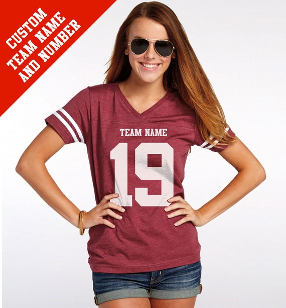 CUSTOM Vintage Football Jersey with Your Team Name and Number