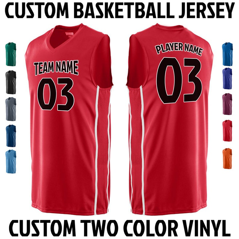 c62508f5c CUSTOM Basketball Team Name and Number Jersey with Custom Name | Etsy