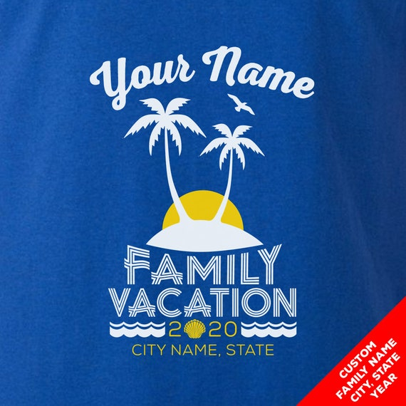 Custom Family Beach Vacation Shirts for 2019- Matching Colors and Sizes for the Whole Family!