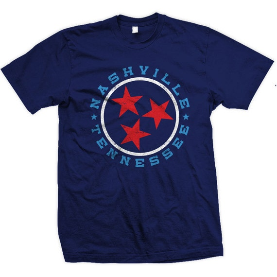 Vintage Nashville Tennessee State Flag Design. Also in Chattanooga, Nashville and Knoxville.