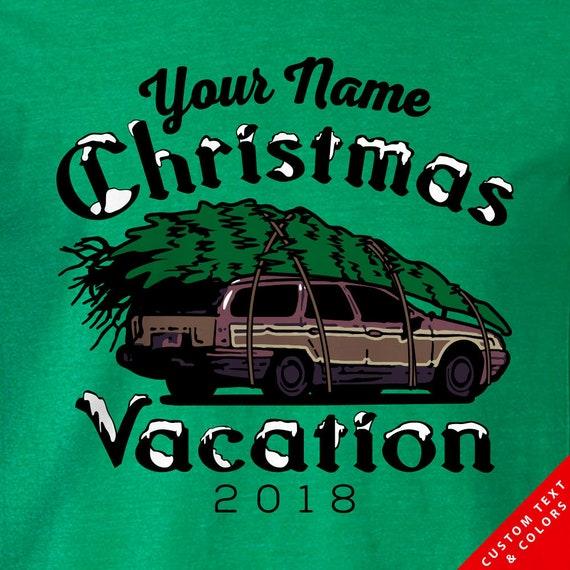 Custom Family Name - Griswold Station Wagon - Christmas Vacation - Christmas Tree Shirts for 2019