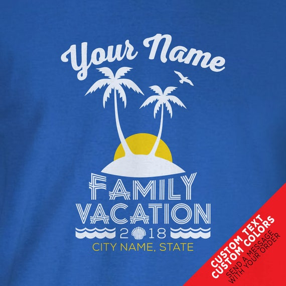 Custom Family Island Beach Vacation Shirts - Matching Colors and Sizes for the Whole Family!