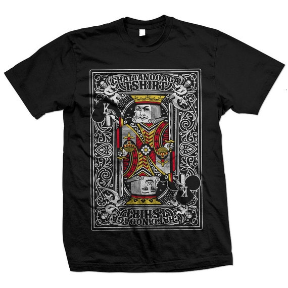 King Playing Card Designer T-shirt from Chattanooga Tshirt
