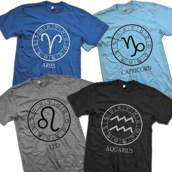 Birthday Gift Zodiac Sign Tee Shirts