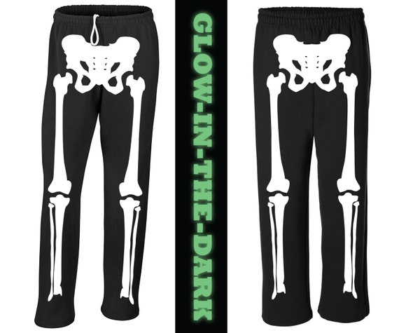 Skeleton Halloween Costume Sweat Pants - Glow in the Dark