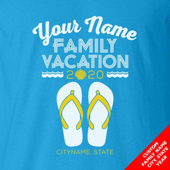 Custom Beach Vacation Flip Flop Shirts - Matching Color Shirts for the Whole Family or Spring Break!