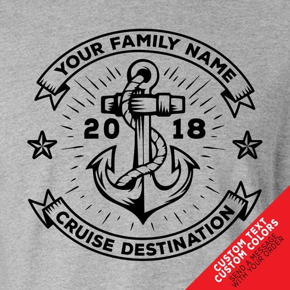 Custom Cruise T-shirts - with Custom Text and Colors. Great for Family or Group Shirts!