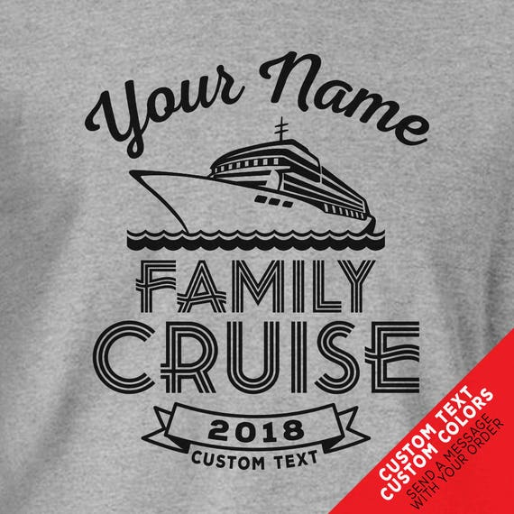 Custom Cruise Family Vacation Shirts - Change all text and add custom names!