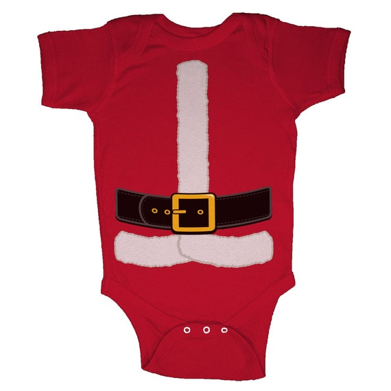 Christmas Santa Claus Costume Infant Body Suits