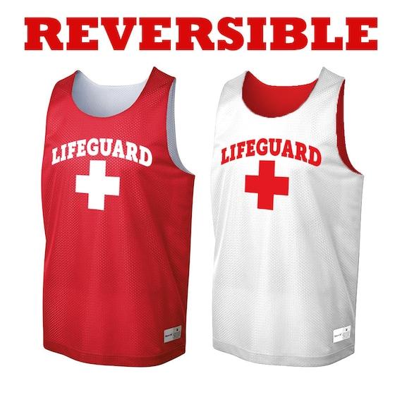 Reversible Lifeguard Tank top. Moisture-wicking tank