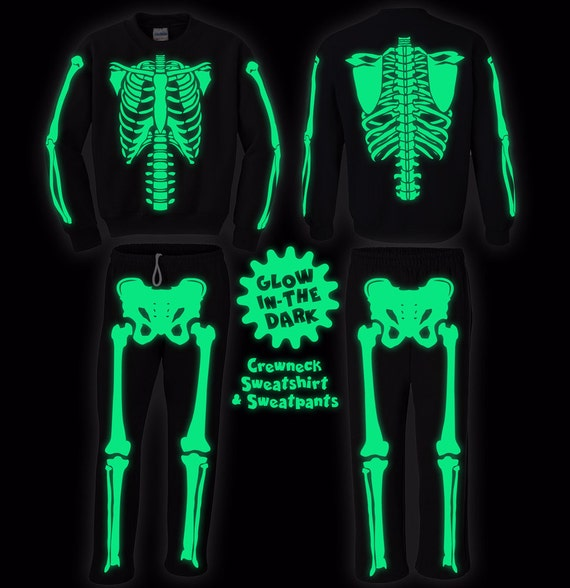 Full Skeleton Halloween Costume Sweatshirt and Sweatpants and | Etsy