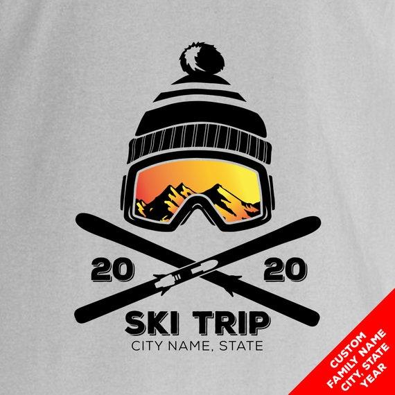 Custom Snow Ski Trip Ski Vacation and  Family Ski Trip Shirts for 2020