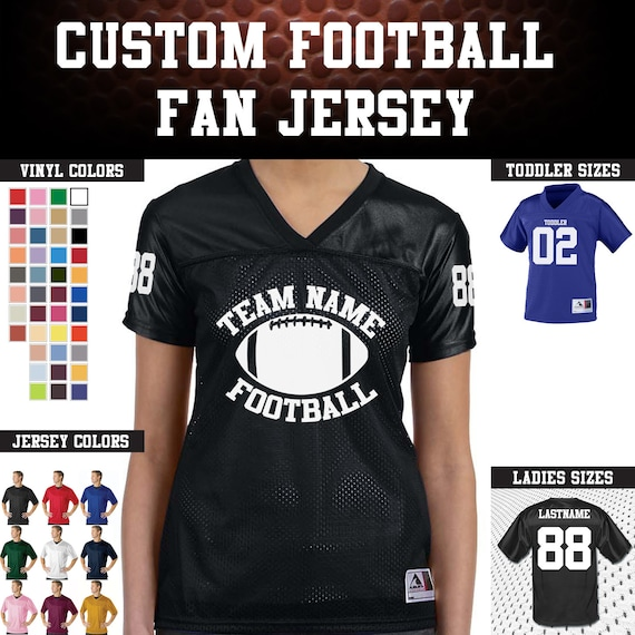 CUSTOM Team Name, Back Number, and  Numberd Sleeves Replica Stadium Football Jerseys