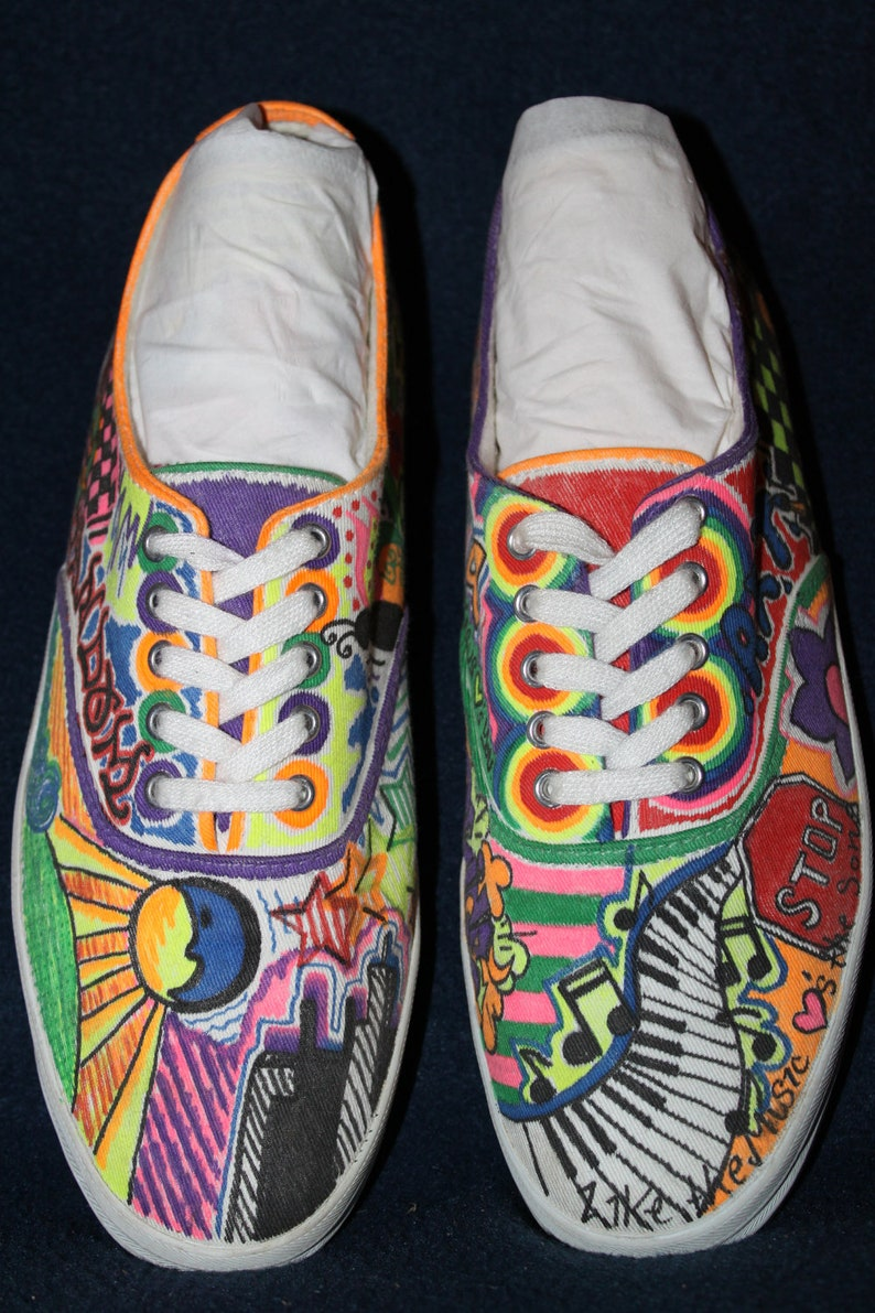 d050042b41 Custom vans from etsy Shoes in 2019 Sharpie shoes Painted