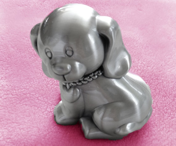 Personalized Puppy Bank Puppy Piggy Bank Coin Bank Etsy