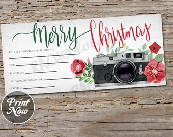 Photography Gift Certificate Etsy