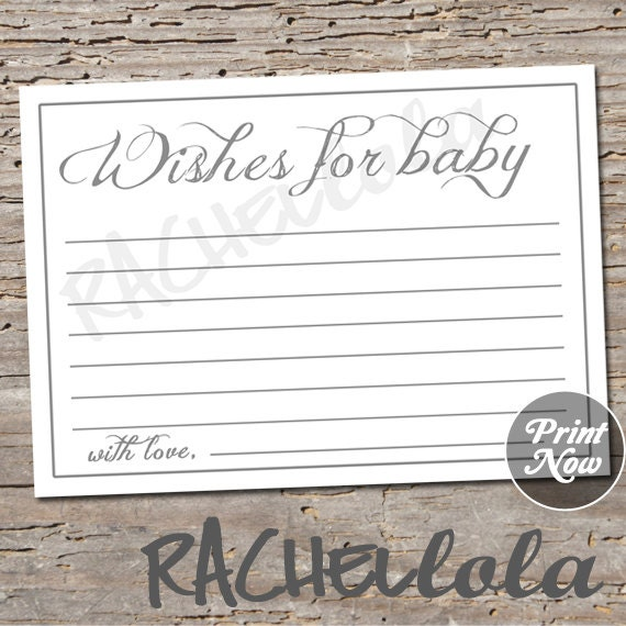 Printable well wishes for baby baby shower game simple grey advice il570xn maxwellsz