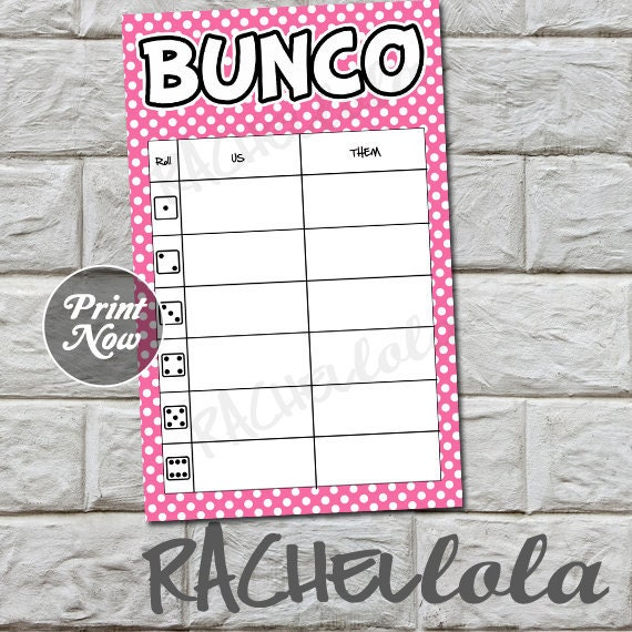 photograph about Printable Bunco Table Tally Sheets known as Purple polka dot bunco desk tally sheets, us them tally playing cards