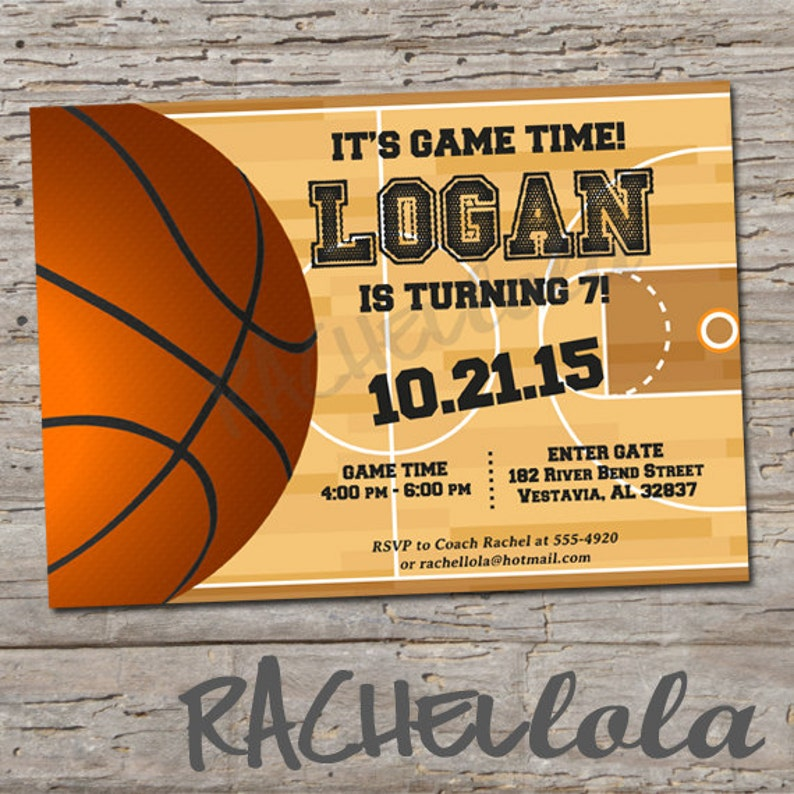 Basketball 1st Birthday Party Invitation Printable Template Digital Download End Of Season Team Teen Boy Girl Banquet Sports