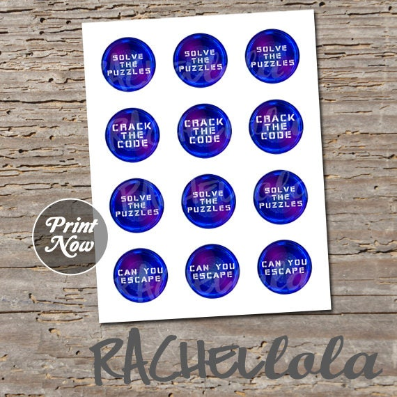 photo regarding Escape Room Printable referred to as Escape Area 2 inch cupcake toppers, teenage birthday celebration, locked out, breakout, printable choose bag, electronic instantaneous obtain template