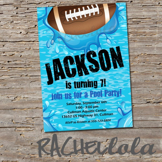 football pool party birthday invitation printable template etsy