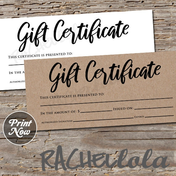 photograph regarding Printable Restaurant Gift Cards titled Printable Kraft Present Certification template, Pictures voucher, Hair salon reward card, Bakery, Cafe, Mary Kay, Oils, Instantaneous obtain
