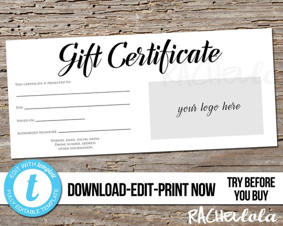 photograph relating to Printable Restaurant Gift Cards named Editable Personalized Printable Present Certification template Symbol, Pictures voucher Hair Salon, Cafe, Tailored Quick down load Templett