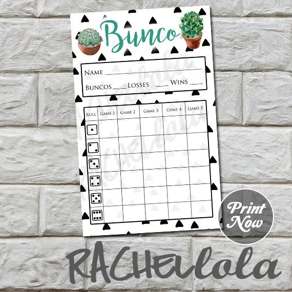 photograph regarding Printable Bunco Sheets known as Cactus bunco rating card, ranking sheet, bunko summer time get together