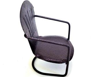 Miniature Metal Garden Chair Fairy Garden Furniture Dollhouse Chair
