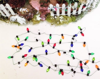 miniature christmas lights fairy garden dollhouse lights string of lights non lighting