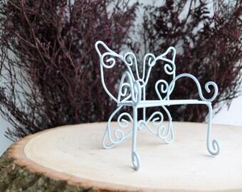 Fairy Garden Furniture Miniature Fairy Chair Blue or Pink Chair Terrarium Accessory