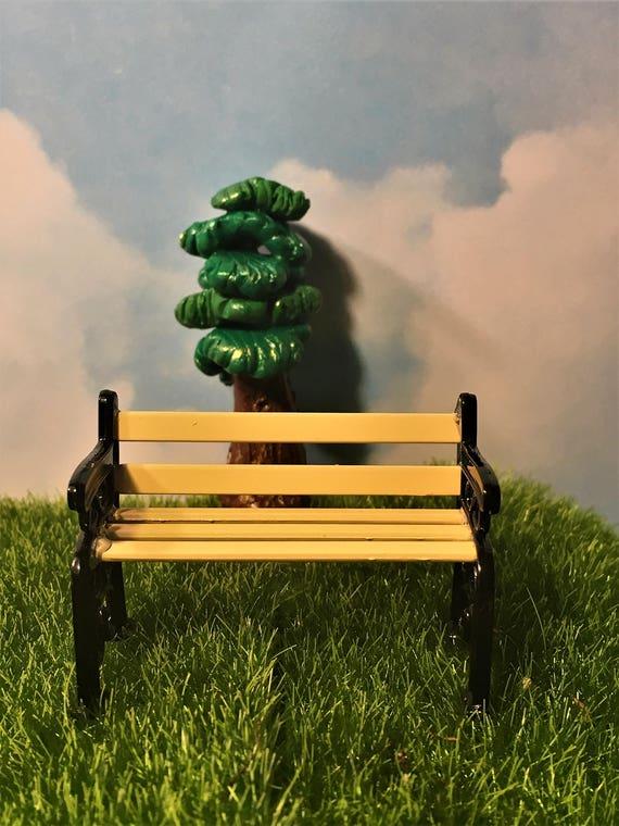 Astonishing Fairy Garden Miniature Bench Fairy Accessory Fairy Park Bench Camellatalisay Diy Chair Ideas Camellatalisaycom